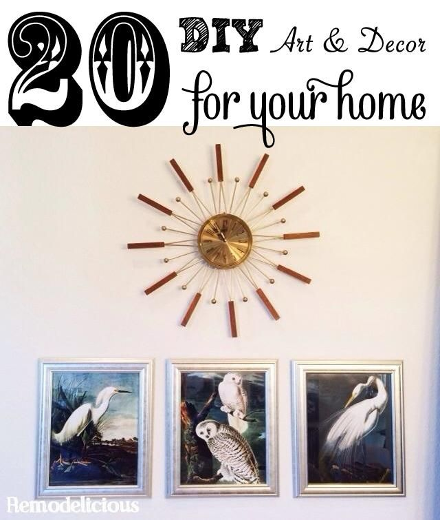 20 diy ideas to add art decor to your home for cheap on a budget