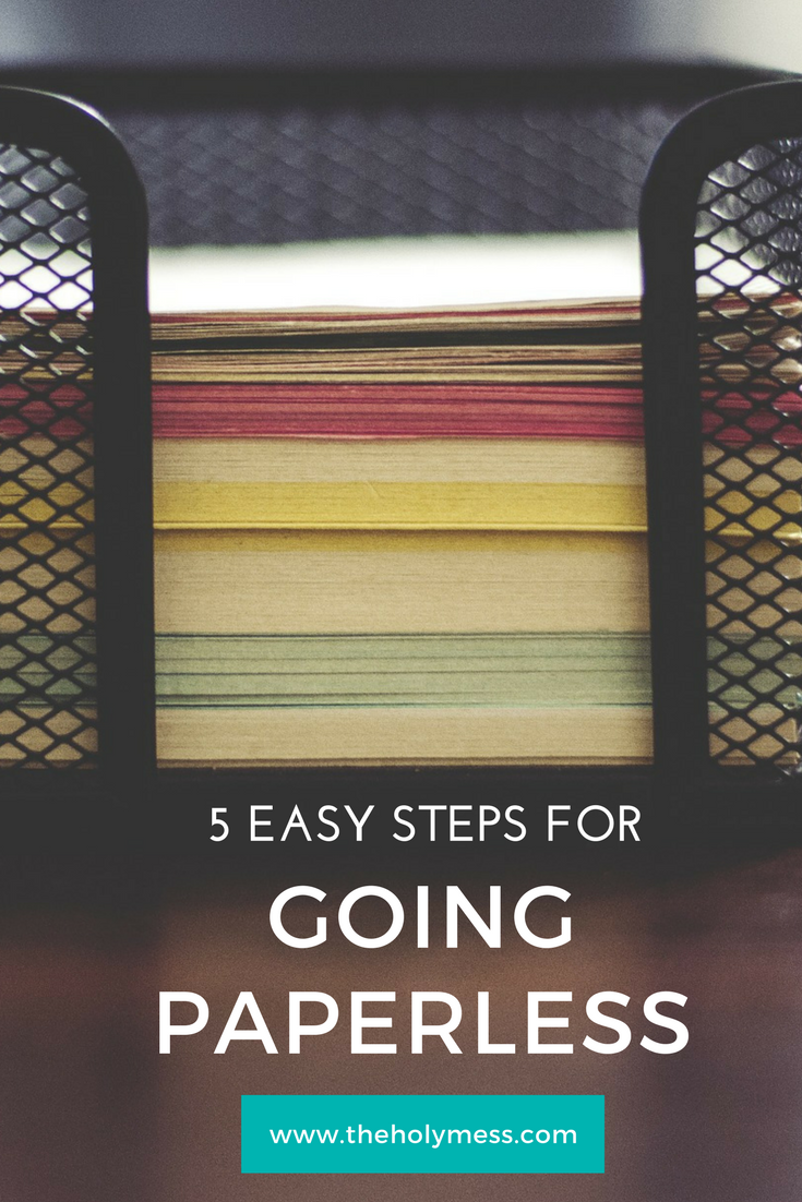 5 Easy Steps To Start Going Paperless Digital Office Scanning Home Scanners Dropbox Organizing Life Hacks Paperwork