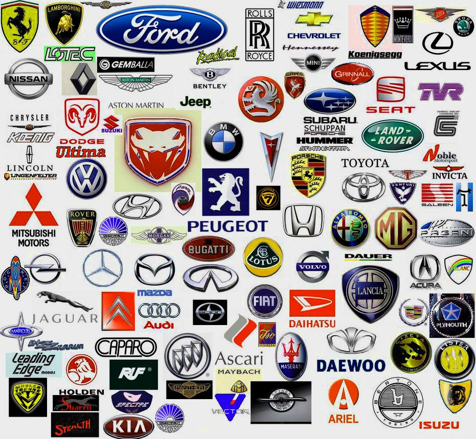 All Cars Logo With Name