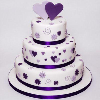 mauve color anniversary rwo tier cake - Google Search