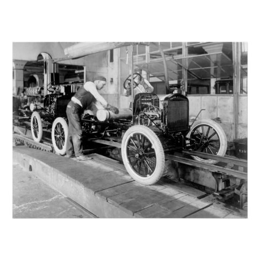 Auto Assembly Line 1920s Poster Zazzle Com Ford Motor Company