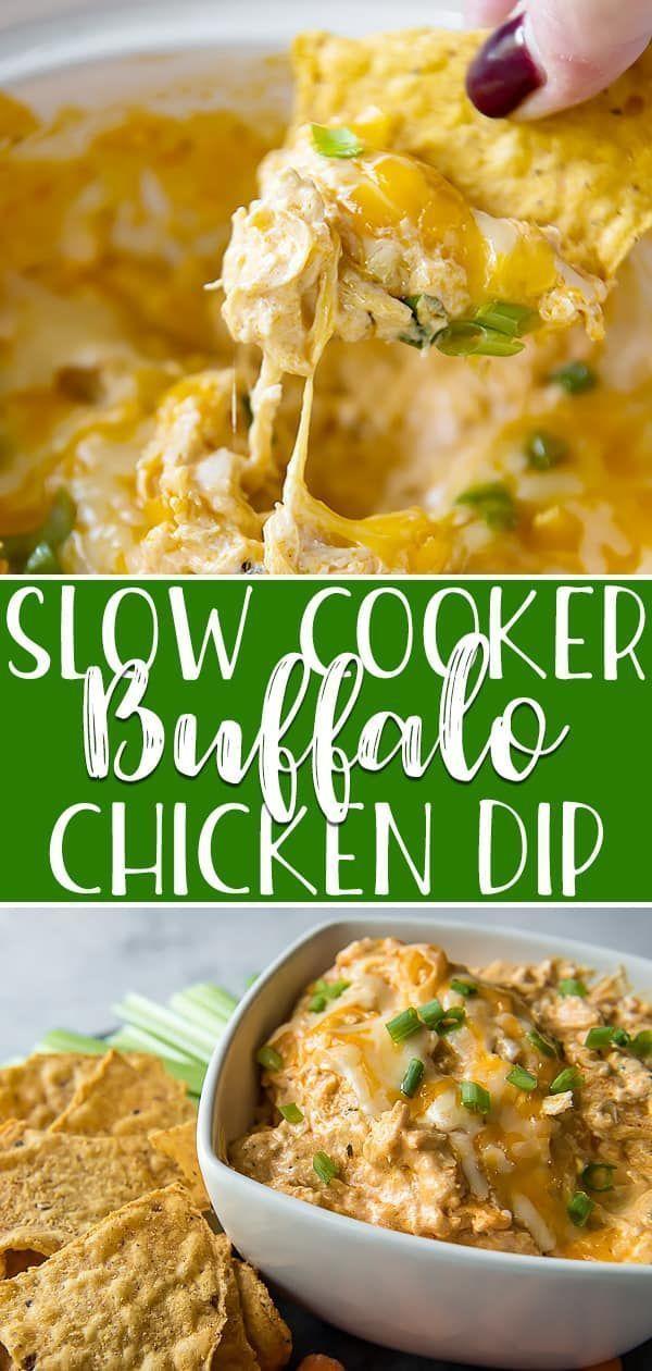 Buffalo Chicken Dip (Crock Pot, Instant Pot, or Oven) This easy, zero-prep Buffalo Chicken Dip turn
