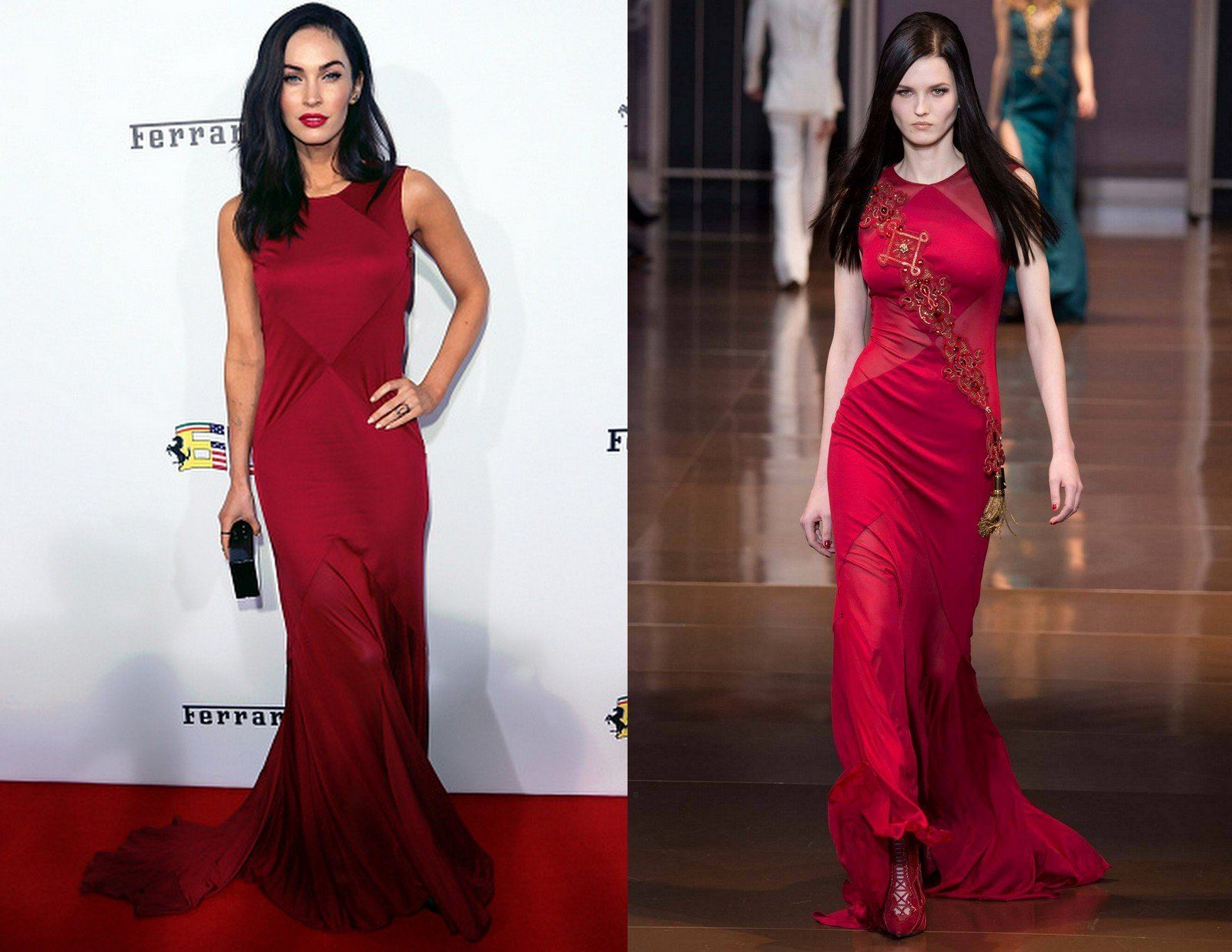b4709c38cea Fabulously Spotted  Megan Fox Wearing Versace – Ferrari s 60th Anniversary  in the USA Gala