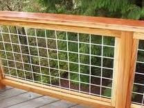 Stock Panel Railing | great ideas | Pinterest | Wire deck railing ...