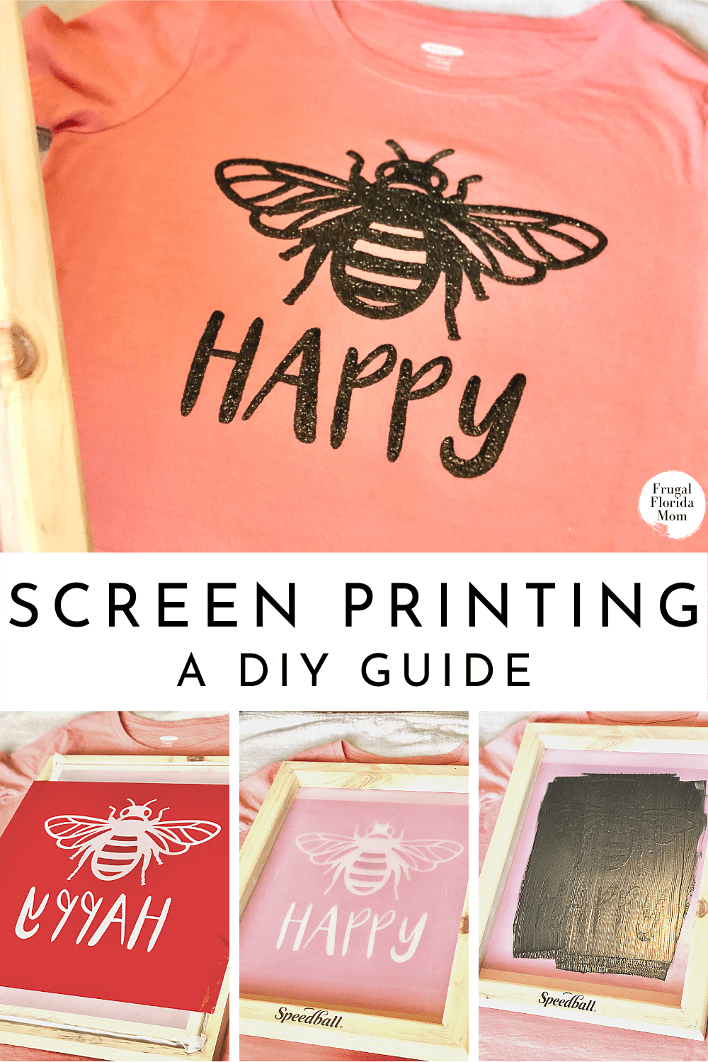 Https Frugalfloridamom Com 2018 09 04 Screen Printing With Your Cricut Or Silhouette 3746858717 In 2020 Diy Screen Printing Screen Printing Tutorial Diy Prints