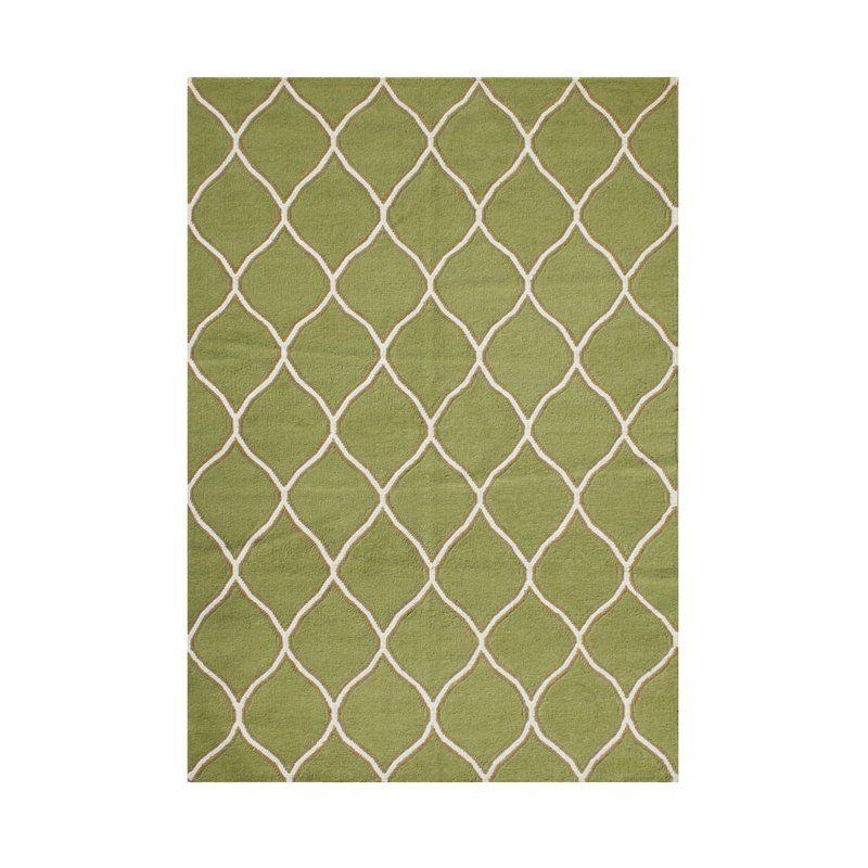 Phoenix HandTufted Wool Green Area Rug Area rugs, Rugs
