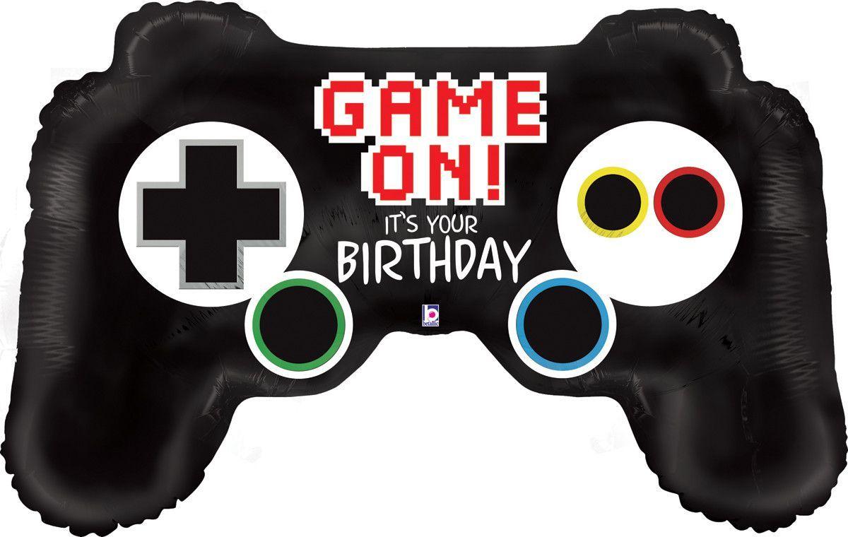 Video Game Controller Happy Birthday Balloon Bouquet