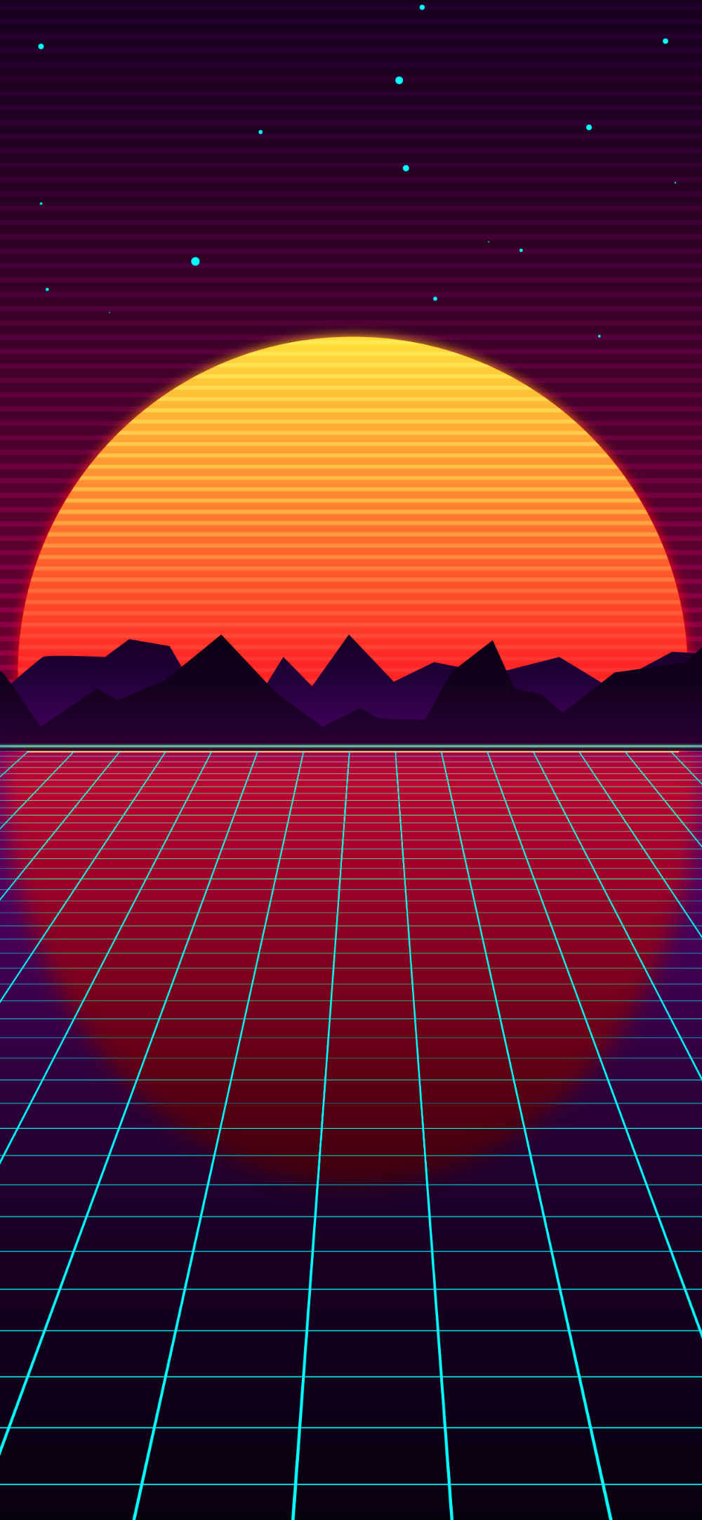 Retro Style Outrun Wallpaper For Phone In Hd Heroscreen Wallpapers Wallpaper Phone Wallpaper Vaporwave Wallpaper