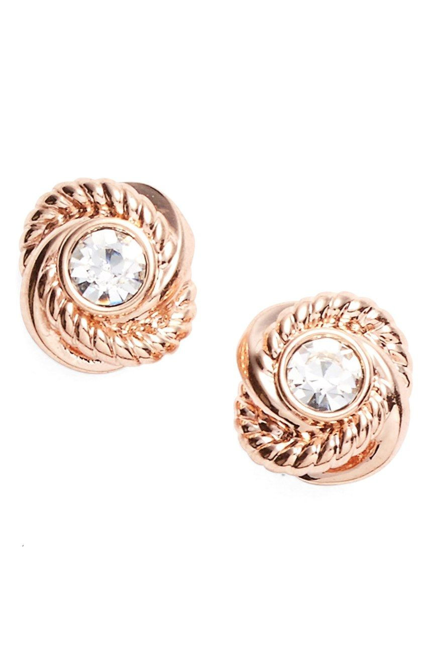 2a3beb815 Currently crushing on these polished rope knot earrings by Kate Spade that  sparkle in rose gold.