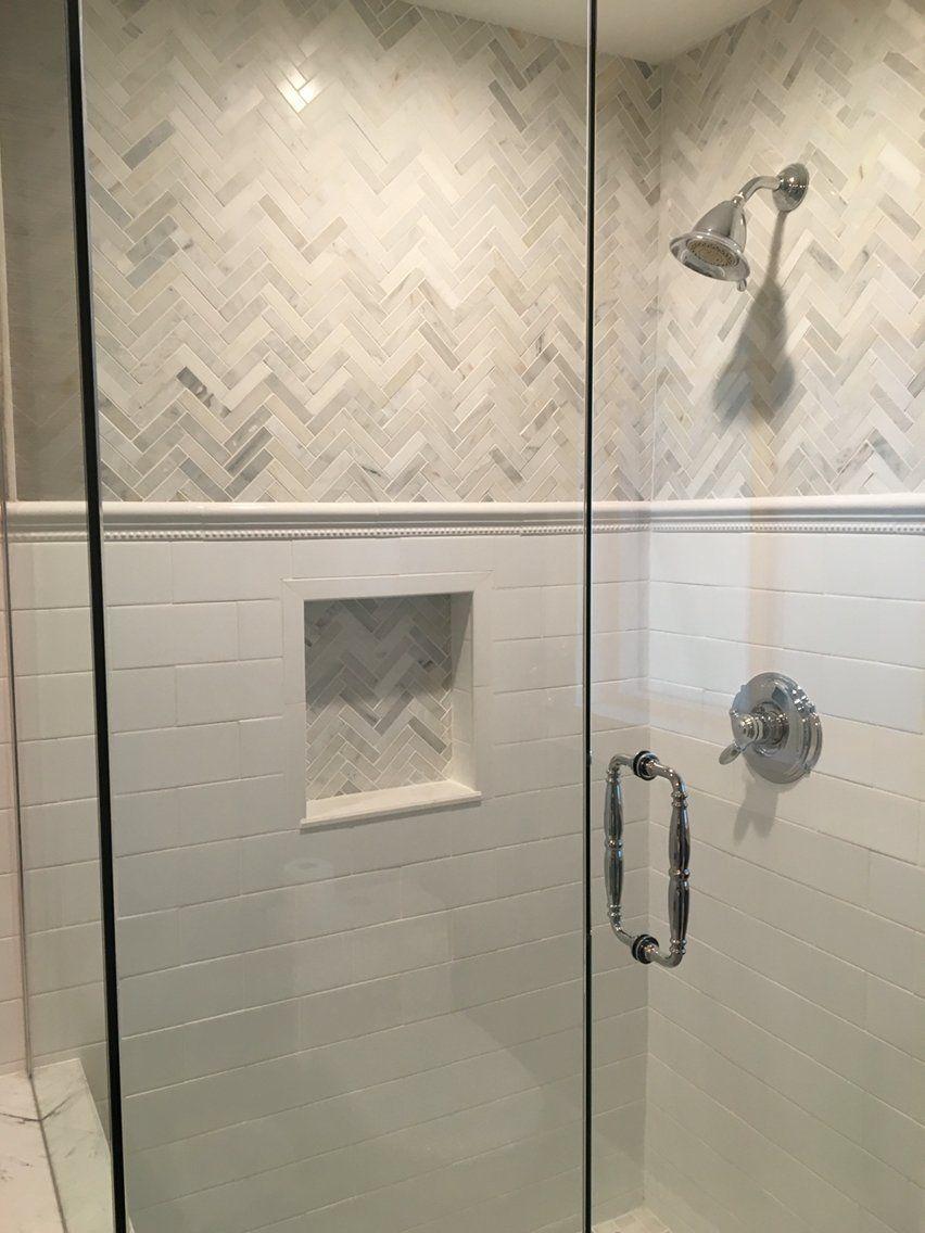 Interesting White Shower Tile Modern Bathroom Ideas Throughout