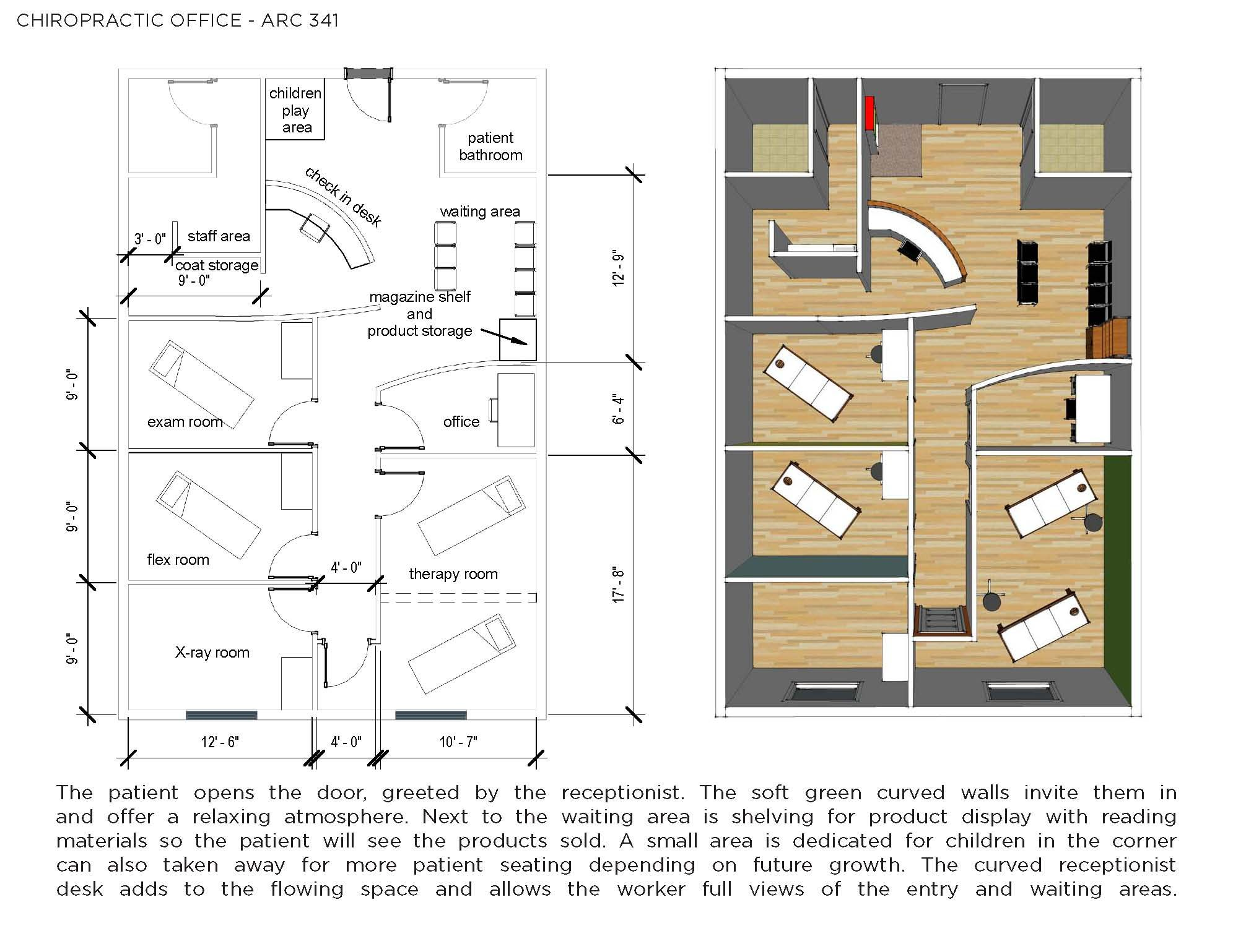 Chiropractic office design bing images chiropractic for Office blueprints design