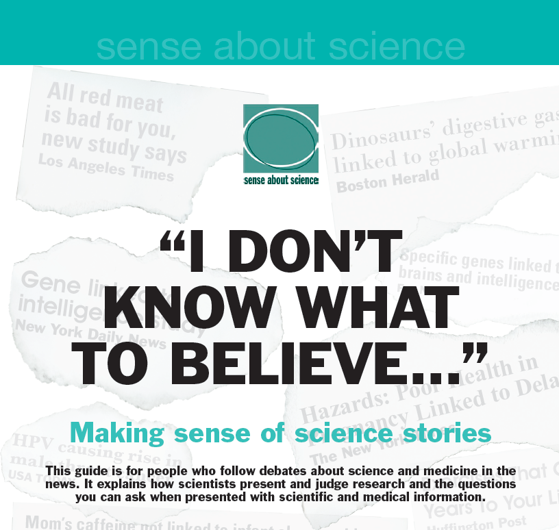 I Don T Know What To Believe Making Sense Of Science Stories Explains The Peer Review Process The System Research Methods Good Cv Sociological Research