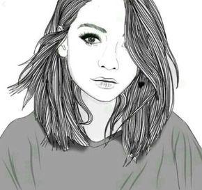 Resultado De Imagen Para Dibujos Chicas Tumblr A Lapiz Dibujo