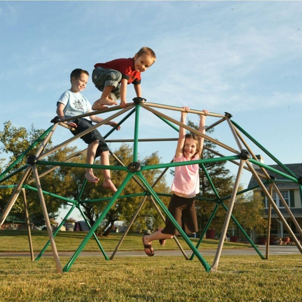 5 Ft Earth Tone Outdoor Backyard Kids Climbing Play Toy Geometric Dome Climber