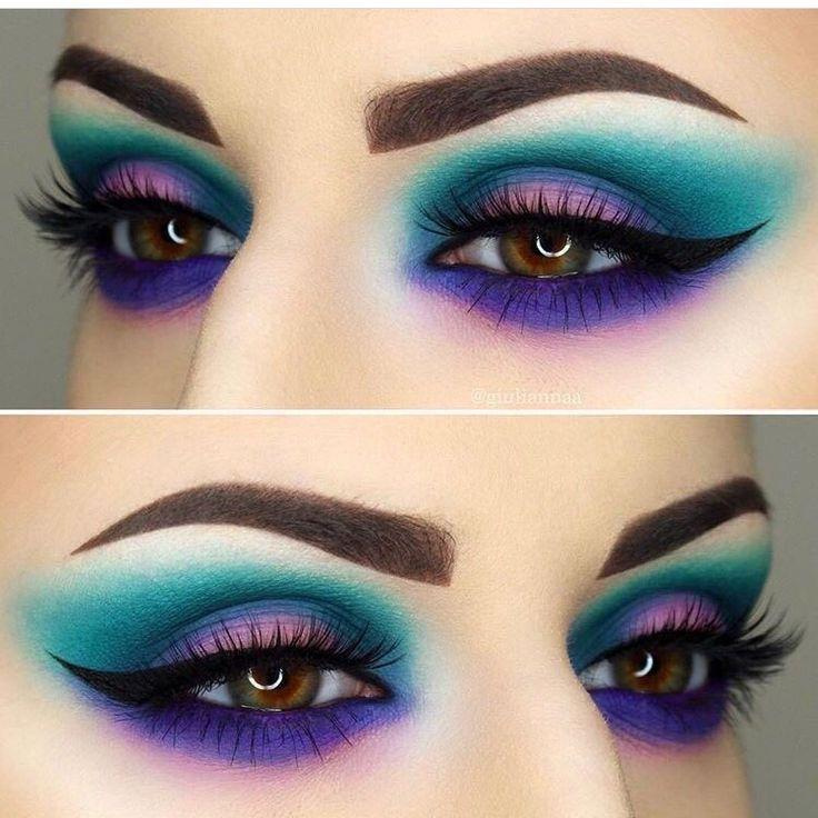 Bunte Lidschatten-Ideen #colorfuleyeshadows #eyeshadowsideas