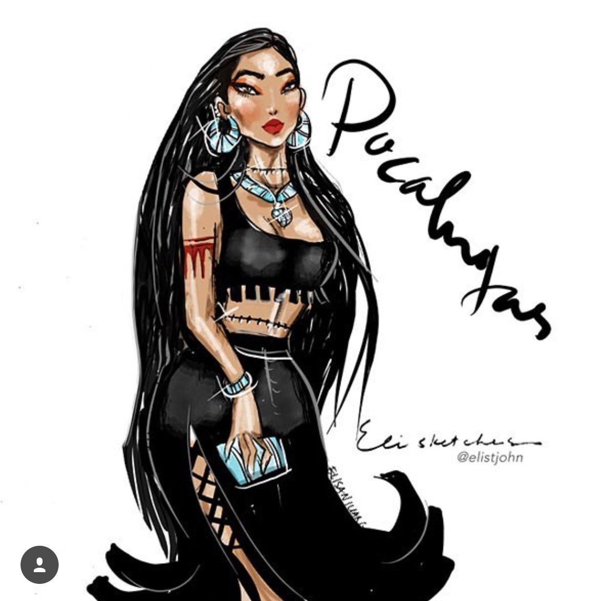 Elisketches Disney Princesses go cocktailinu Pocahontas  Disney