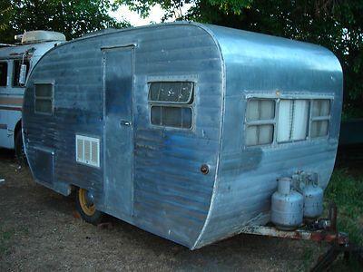 1953 rod reel vintage 14 39 travel trailer in rvs for Ebay motors car trailers