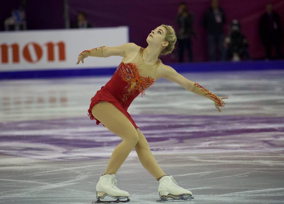 "Gracie Gold skating to ""Firebird"" at the 2015 Grand Prix ...Gracie Gold Skating Dresses"