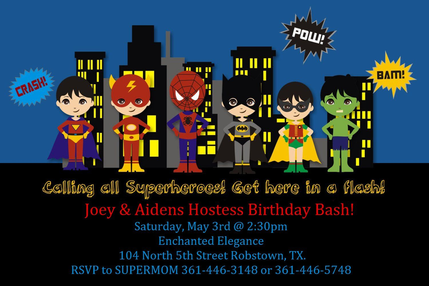 Superhero Invitation | Photo Invitations | Pinterest | Superhero ...