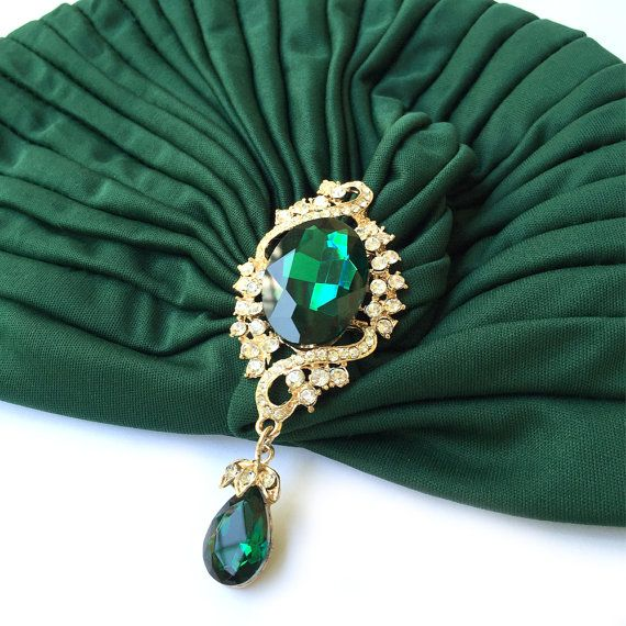 Green Turban Ladies Turban Hat Full Turban Hair by curtainroad