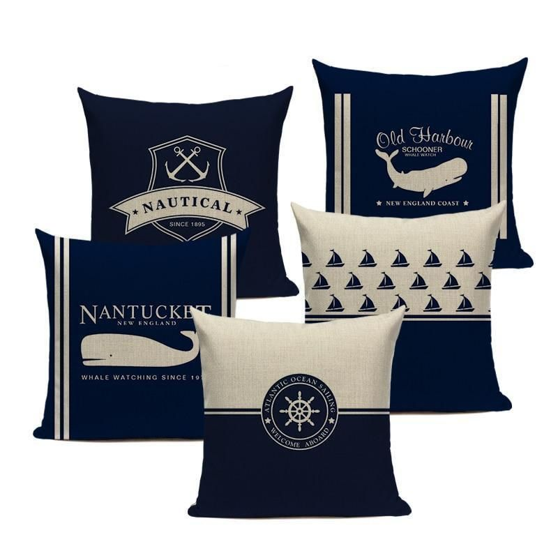 Photo of Sail Away – Nautical Decorative Cushion Cover Collection