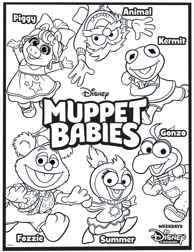 Win A Muppet Babies Prize Pack Us Ends 8 22 Baby Coloring Pages Muppet Babies Muppets