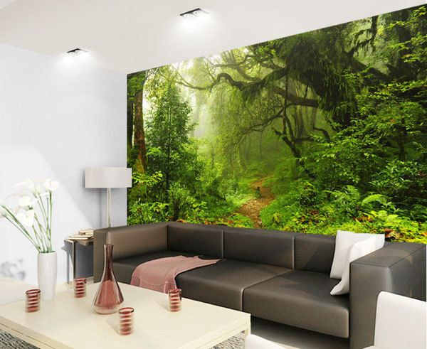 Details About Tropical Dark Green Forest Nature Rainforest 3d Full Wall Mural Photo Wallpaper Green Wall Decor Wall Murals Mural Wallpaper