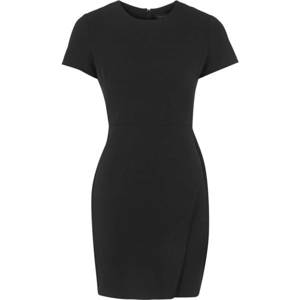 Topshop Asymmetric Wrap Shift Dress Featuring Polyvore Fashion