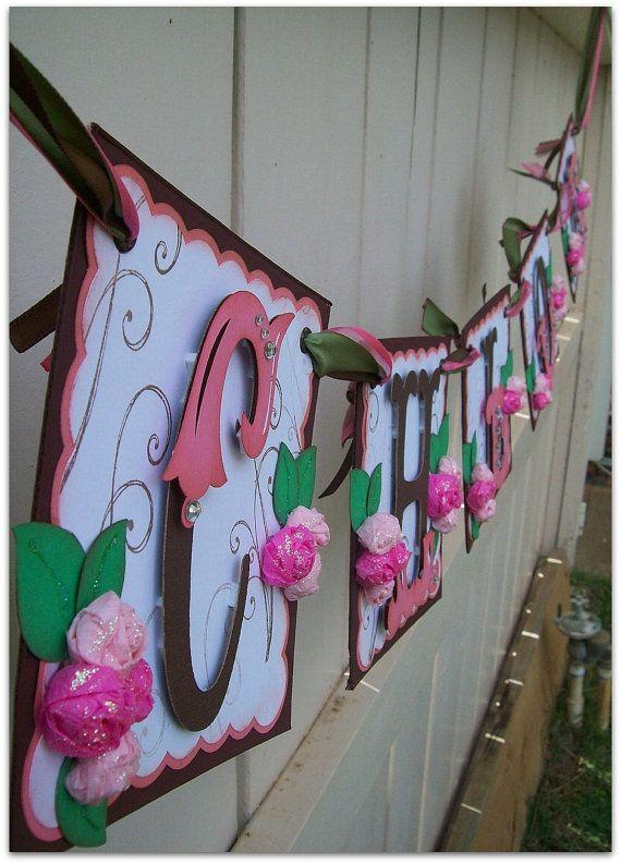 handmade banner custom made go green name banner by nadyasworld