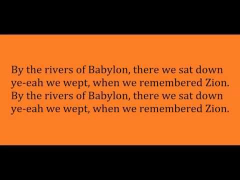 Boney M Rivers Of Babylon Lyric Video Youtube Babylon Lyrics Boney M Lyrics