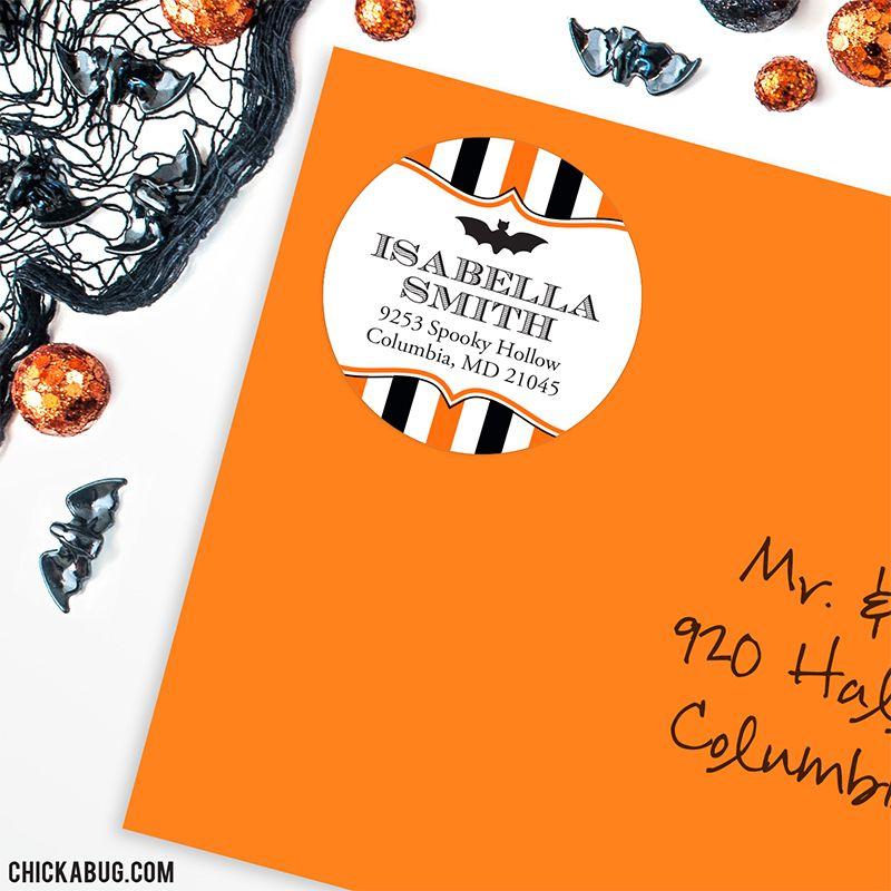 Halloween address labels!