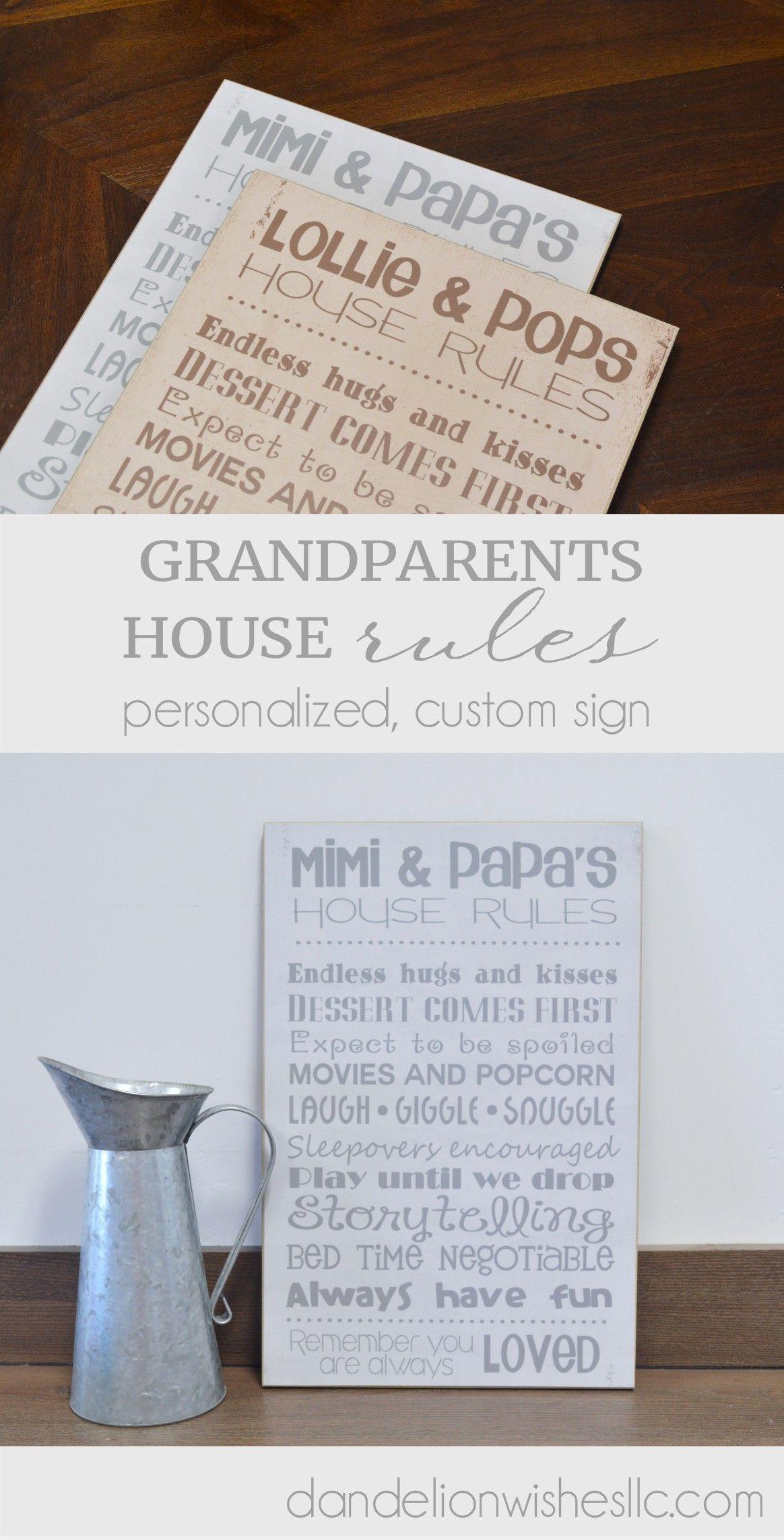 Personalized Gift For Grandparents Grandma And Grandpa S House