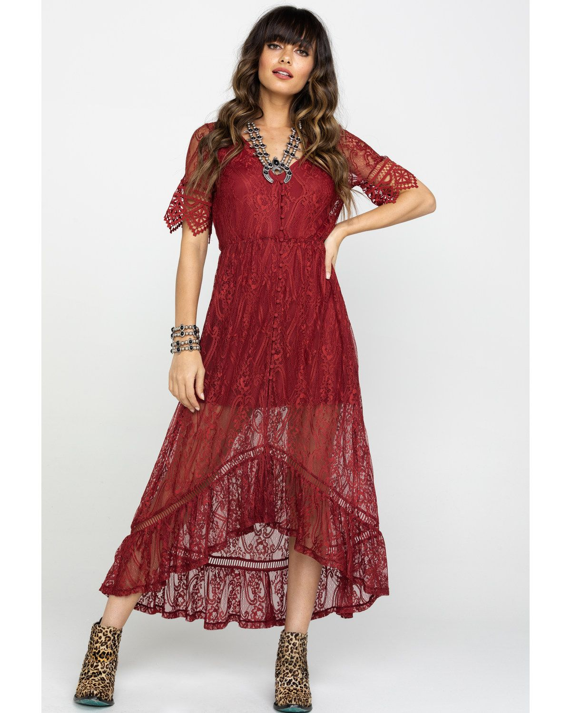 66c83db72ea Shyanne Women s Allover Lace Button Front Maxi Dress in 2019
