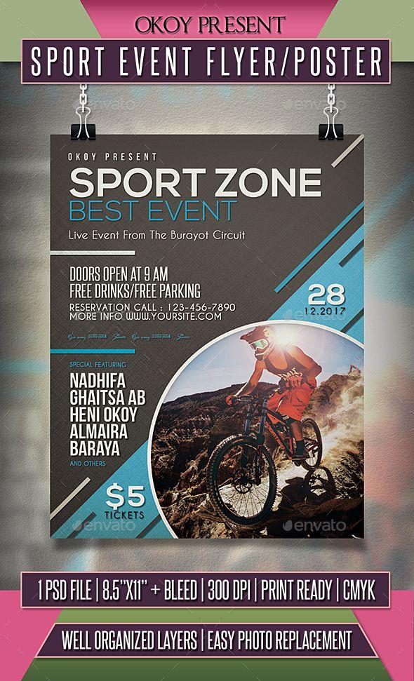 Sport Event Flyer Poster Template Psd Flyer Templates Event