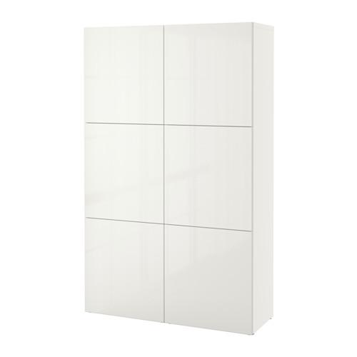 BestÅ Storage Combination With Doors White Selsviken High Gloss Ikea