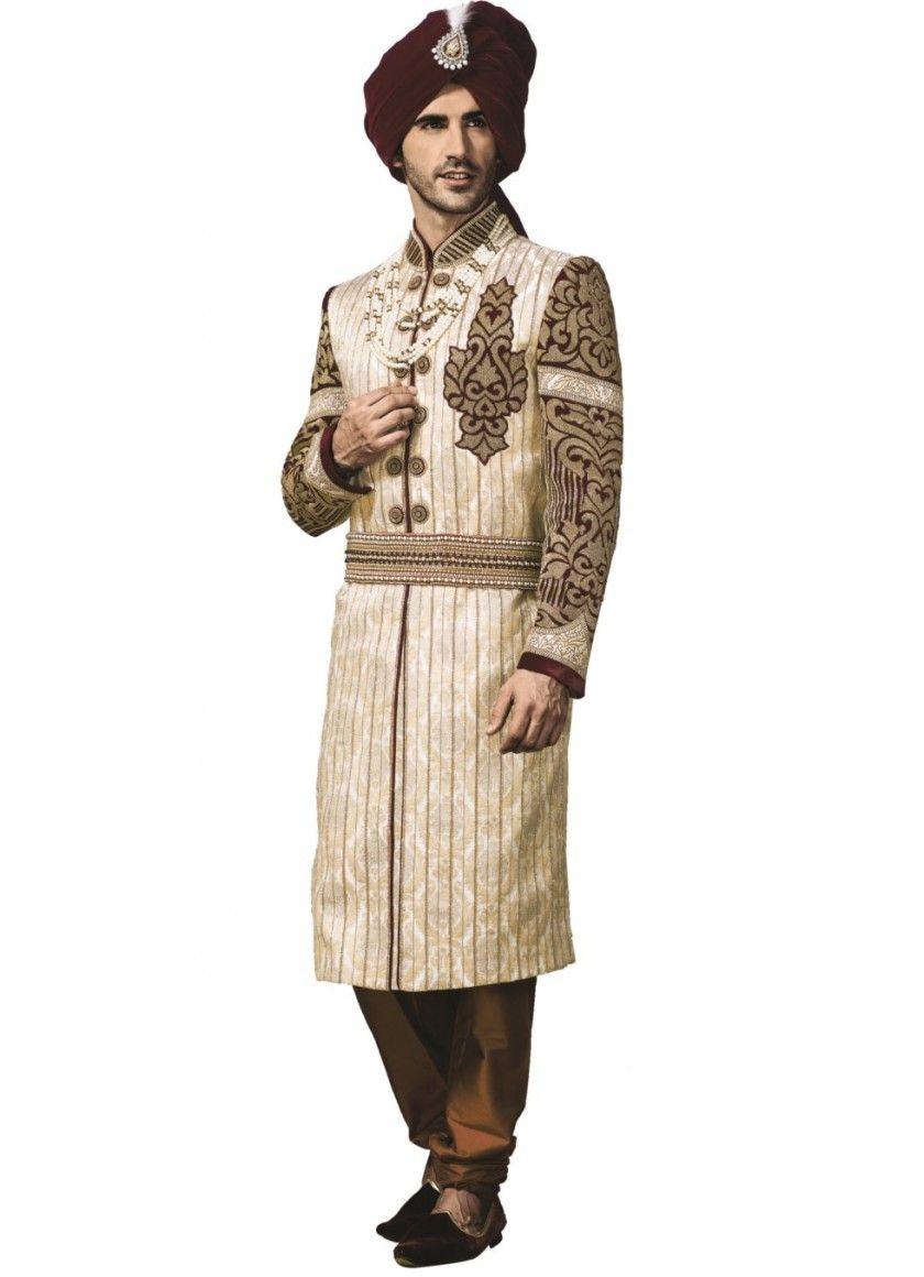 Sherwani the Indian Wedding Gown for Men  1dbe0451ebb