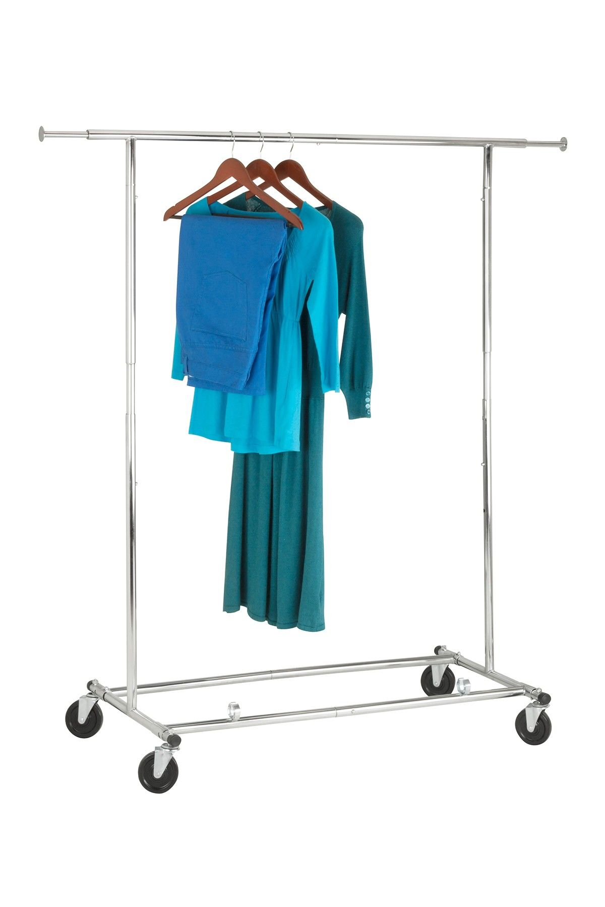 Honey-Can-Do Chrome Collapsible Garment Rack | Bed Bath Bedrooms ...