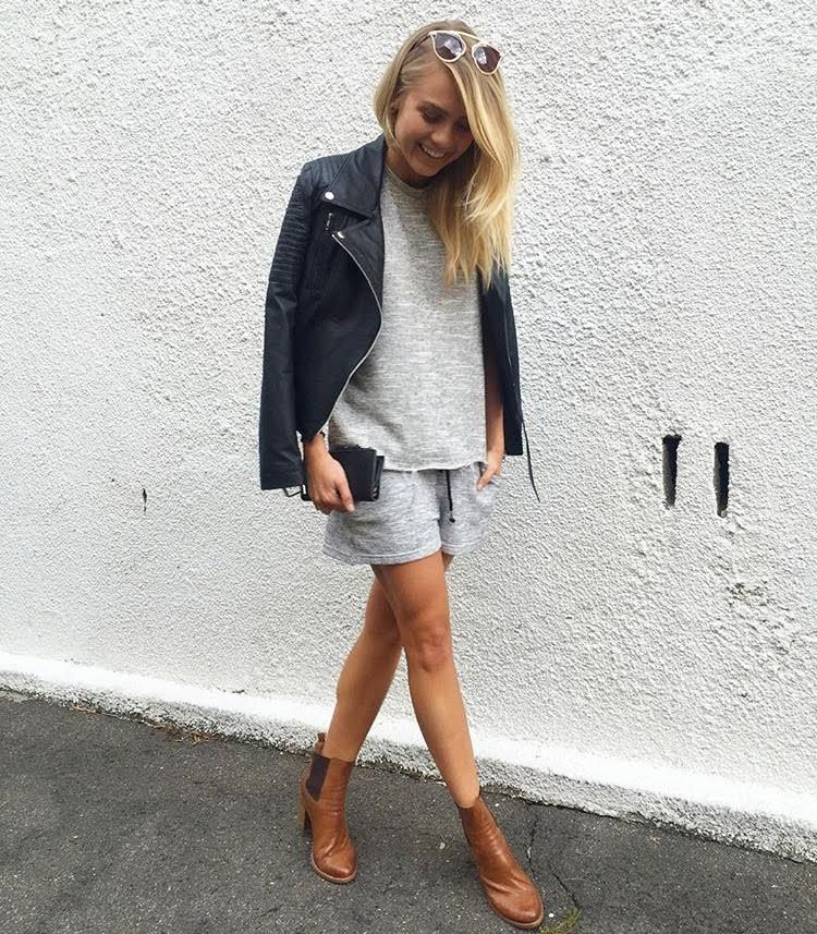 Elyse Knowles in our grey marl set - kite tank and fracture short ... d87c94471