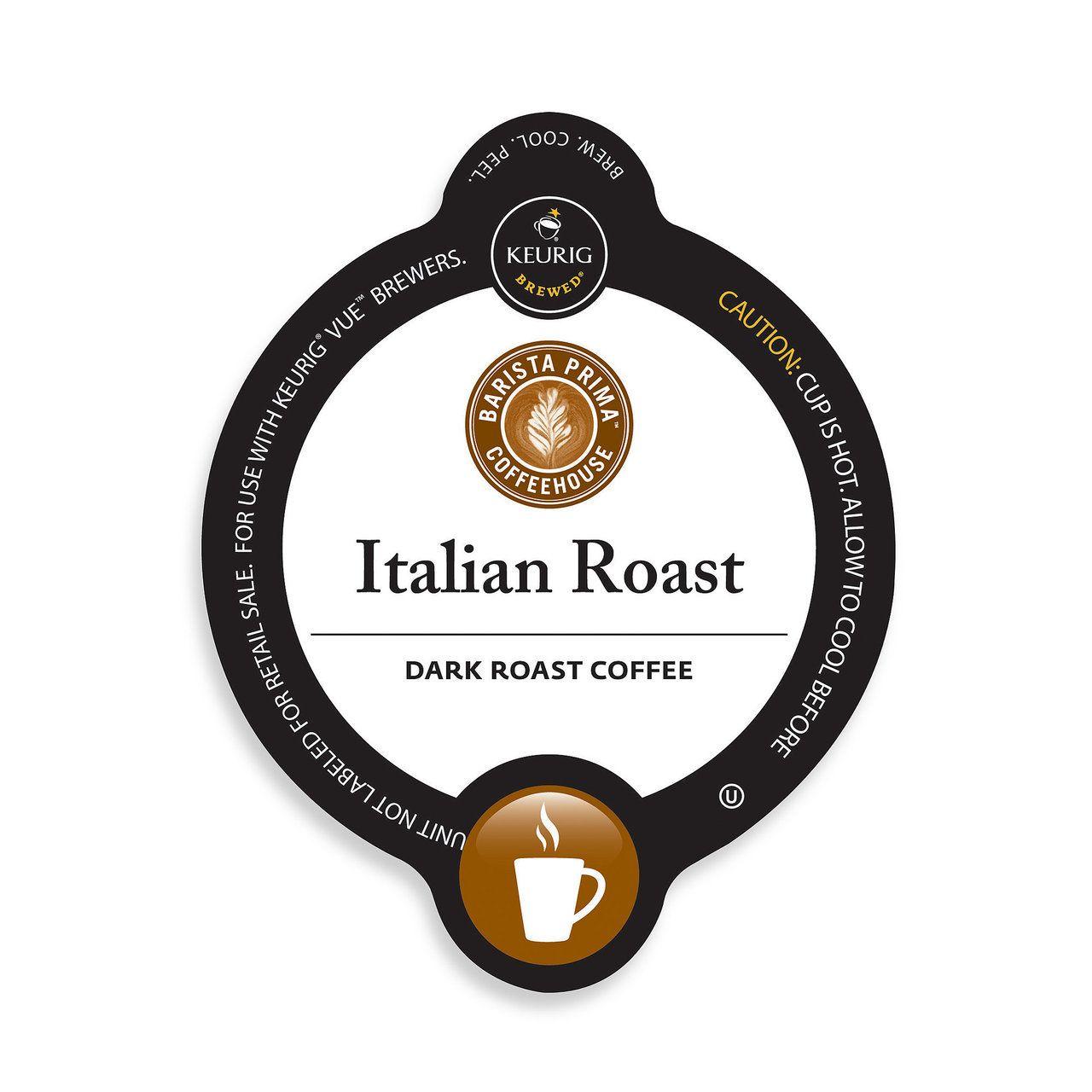 Barista primahouse italian roast coffee kcup portion