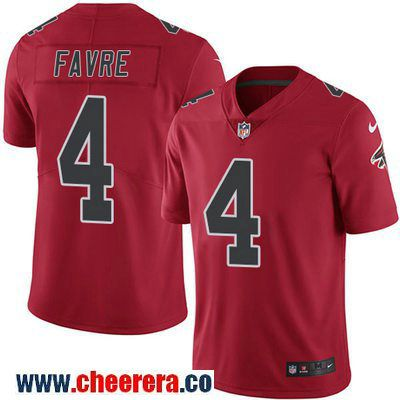 eaa3eb6d2 ... Mens Atlanta Falcons 4 Brett Favre Red 2016 Color Rush Stitched NFL  Nike Limited Jersey ...