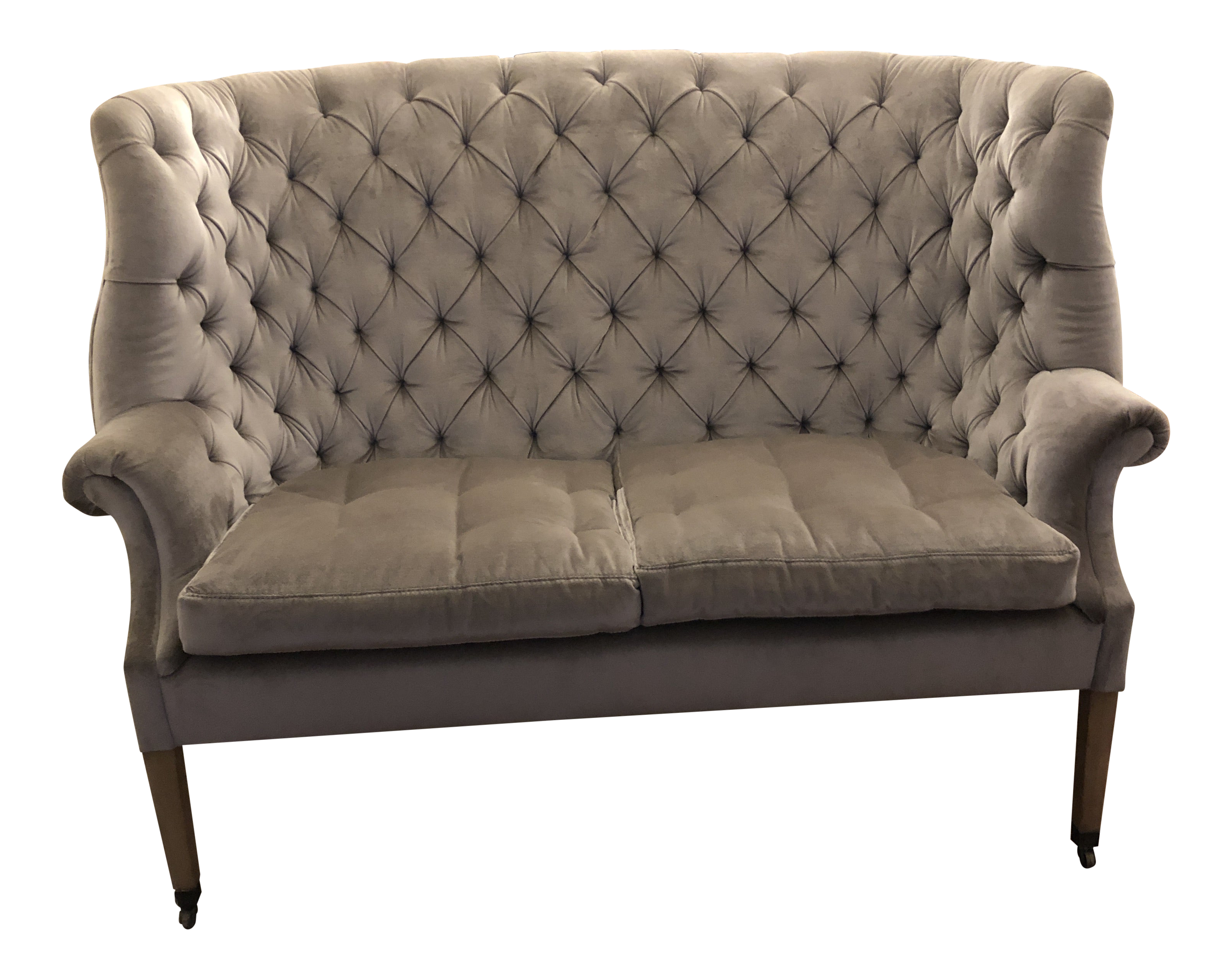 Restoration Hardware English Wing Settee