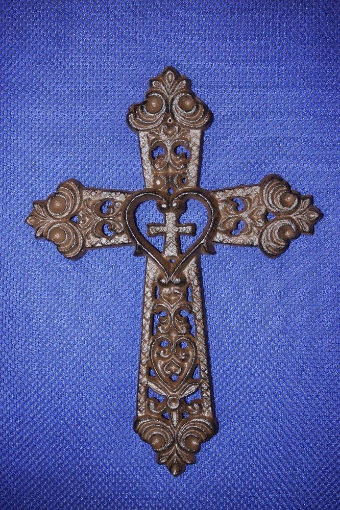 1 Pc Faith Cross Cast Iron 9 3 4 Home Decor Rustic C 54 Unbranded Artscraftsmissionstyle