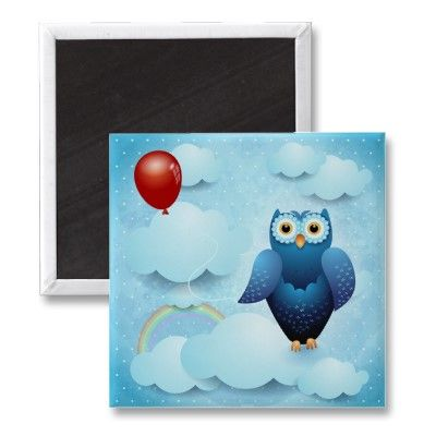 #Owl in the sky, design by PinkHurricane :)  #magnet