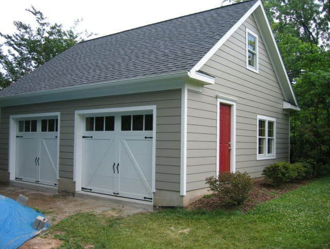 Average cost to build detached garage with apartment for Two car garage square footage
