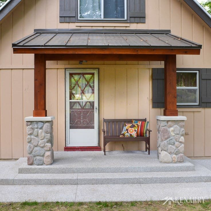 Best Craftsman Style Front Porch For An A Frame Cottage Porch 400 x 300