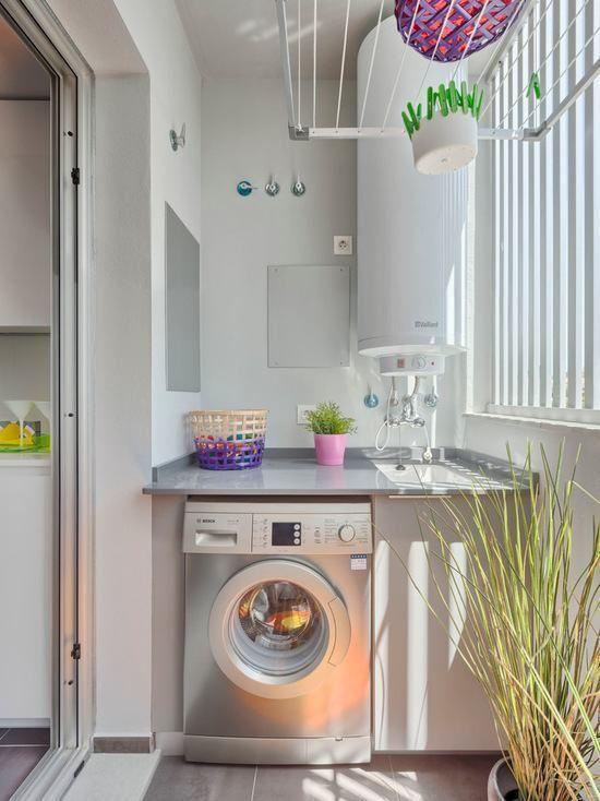 Lavanderia pequena 60 dicas e inspira es para organizar - Organizador de lavanderia ...