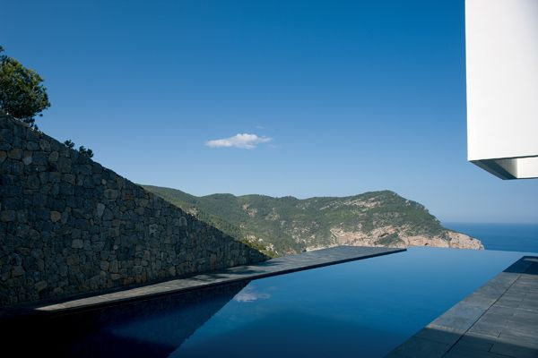 Perched on the edge of a cliff in Spain