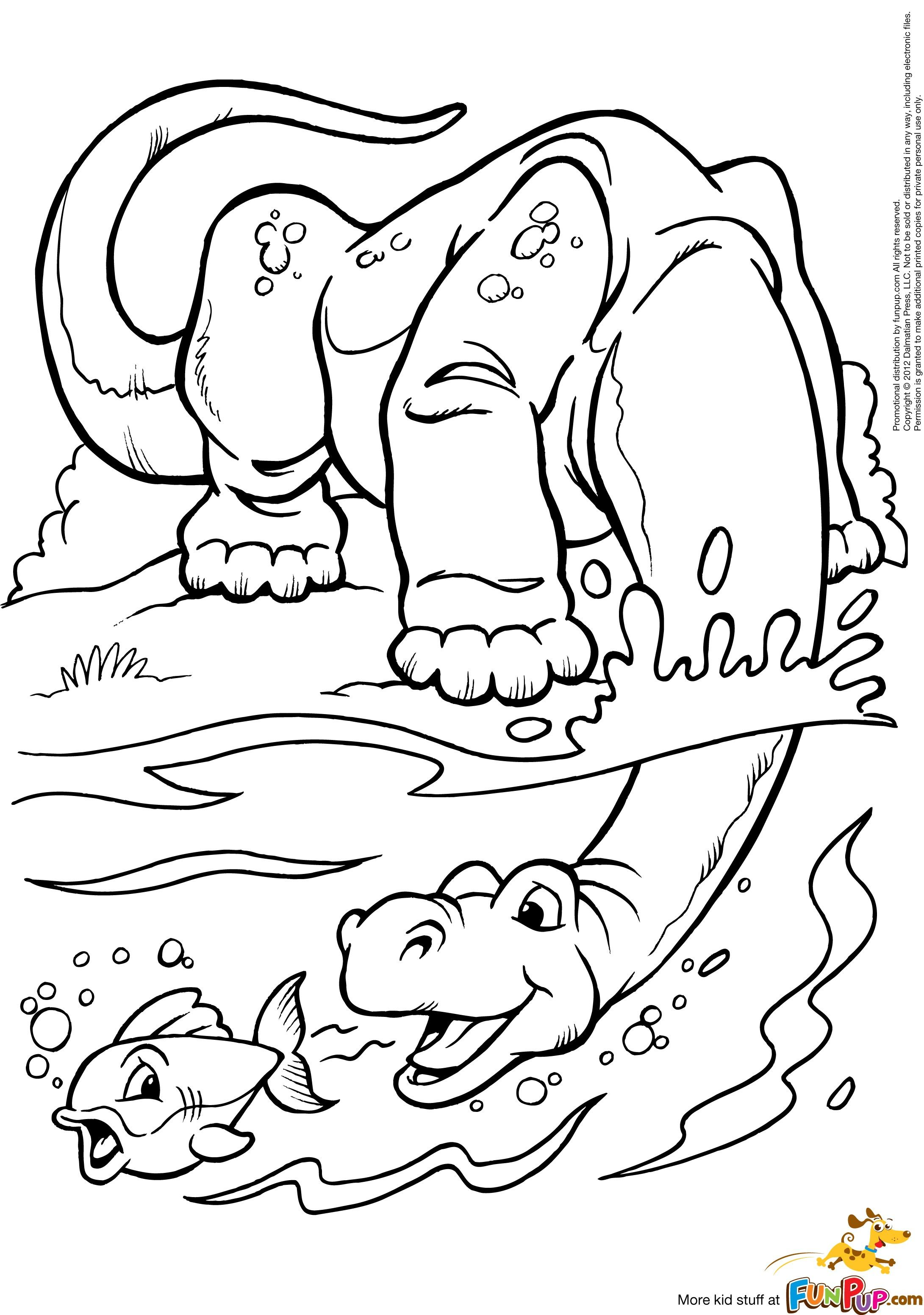 Dinosaur And Fish 0 00 Colouring Images Pinterest Dinosaurier