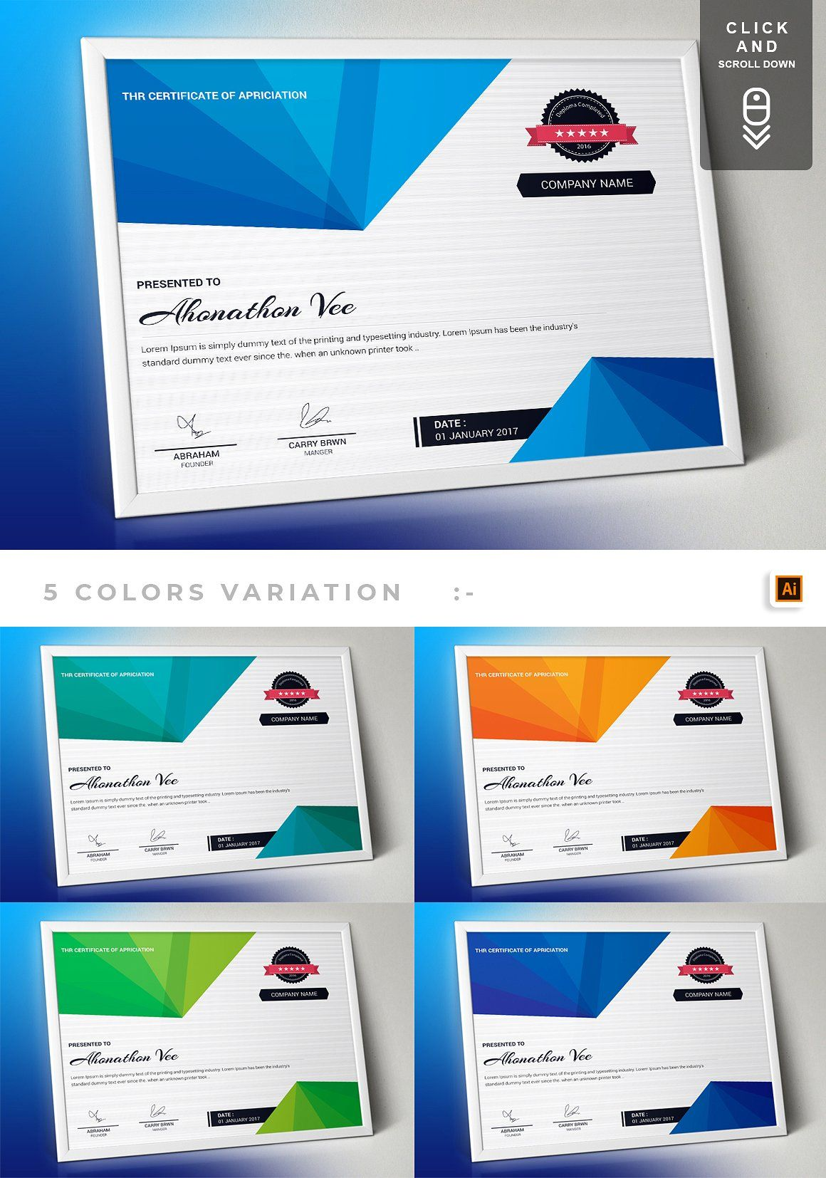 Website Design Inspiration Corporate Business Certificate Template Bundle Key Features Quick Easy Of Reciation