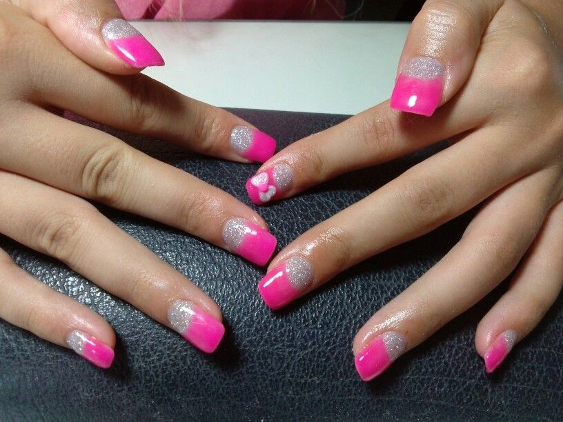Nails gel, neon pink! | Nails | Pinterest